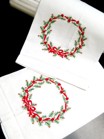 Evergreen Christmas Guest Towel