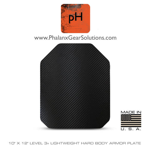 Pre-Order: 10x12 Level 3+ Lightweight Stand Alone Hard Body Armor Plate - Multi Curve - Phalanx Gear Solutions, LLC