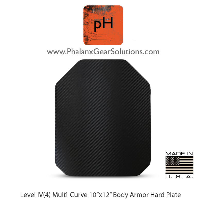 Level IV(4) Multi-Curve STAND ALONE HARD PLATE 10 X 12 - Phalanx Gear Solutions, LLC