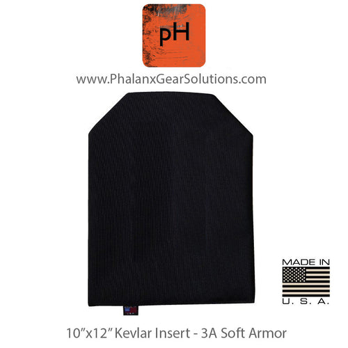 10×12 Kevlar Blend Ballistic Shooter's Cut Soft Armor Panel - Phalanx Gear Solutions, LLC