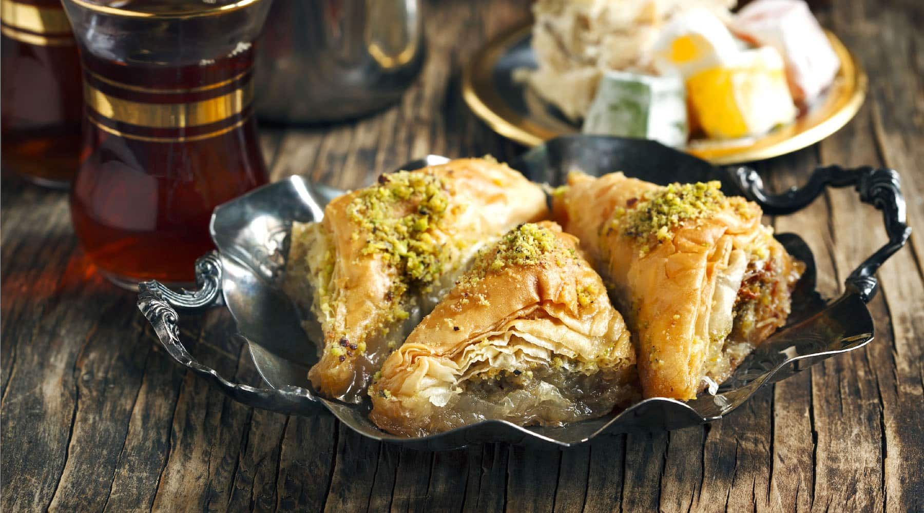 Moroccan Almond Filled Baklava Recipe Chateau Rouge Fine Foods