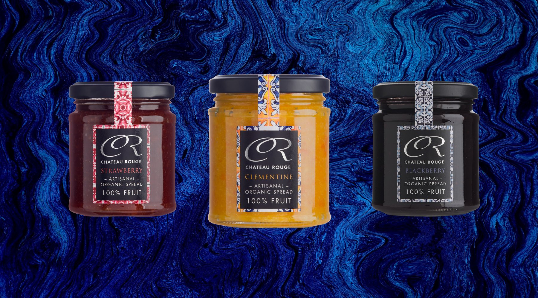 100 organic real fruit jams preserves gift sets chateau rouge organic fruit jams negle Image collections