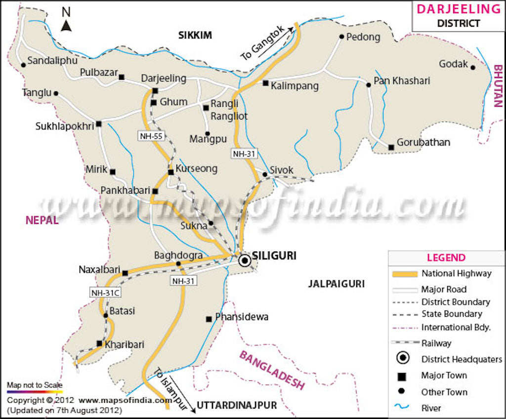 darjeeling map tourist travel to darjeeling tourism destinations  - laugavegur trail map legend of zelda map