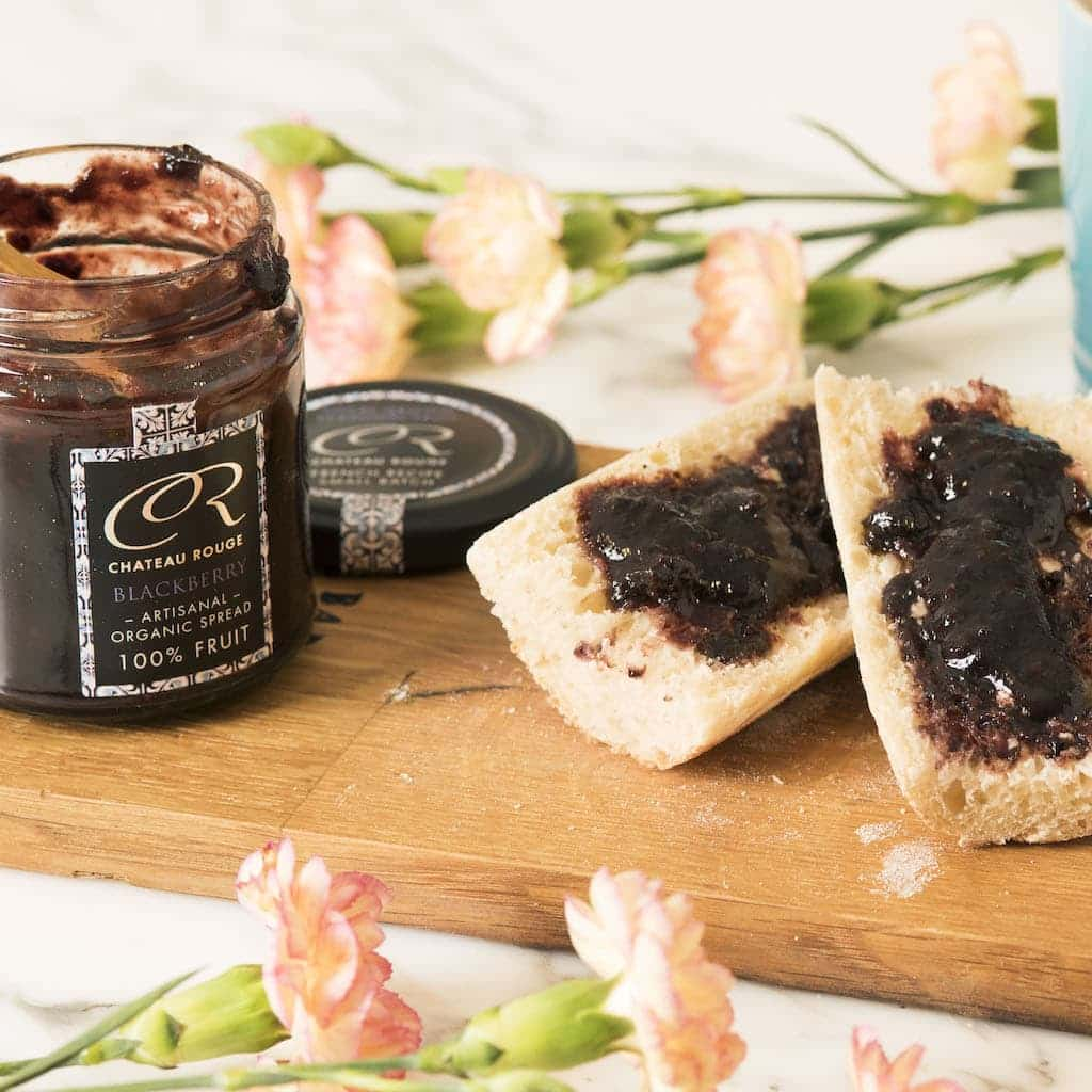 Chateau Rouge Fine Gourmet Foods Gifts UK_Natural Organic French 100% Fruit Jams Sugar-Free for breakfast