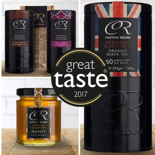 Chateau Rouge Gourmet Fine Foods UK_Great Taste Awards winners_chocolate honey and organic tea