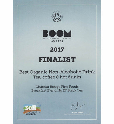 Chateau Rouge Fine Foods_Soil Association BOOM Awards 2017_Organic English Breakfast Black Tea