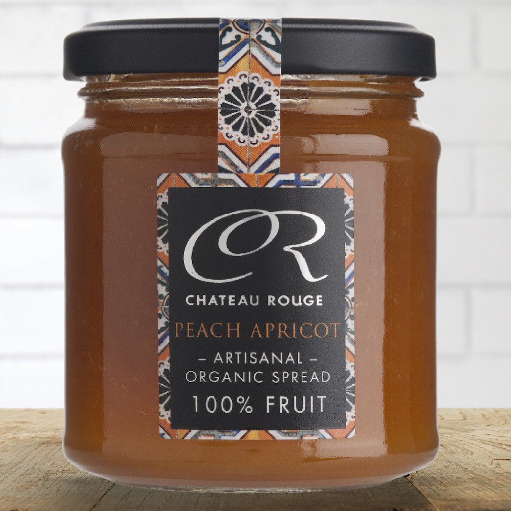 Peach & Apricot - Organic Fruit Jam - Chateau Rouge Fine Foods