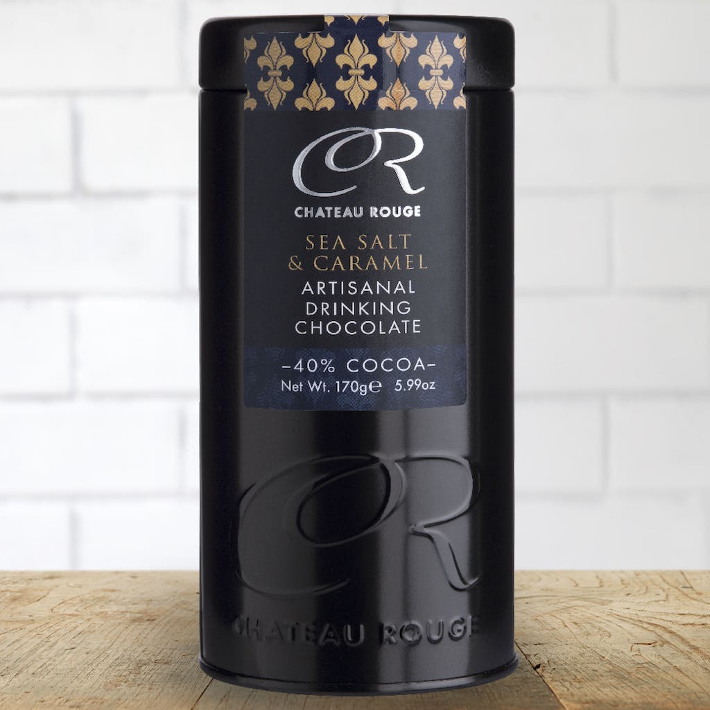 Luxury Salted Caramel hot chocolate gift tin_Chateau Rouge Fine Foods