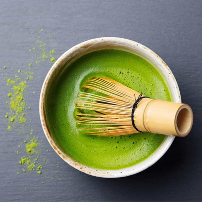 Japanese matcha bowl and whisk set