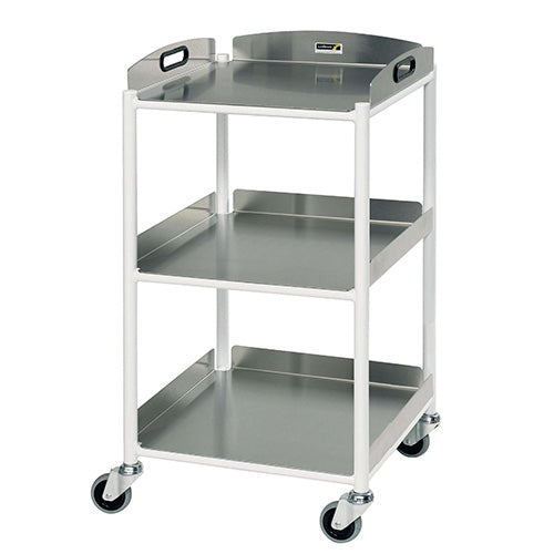 Small Dressing Trolley - 3 Stainless Steel Trays