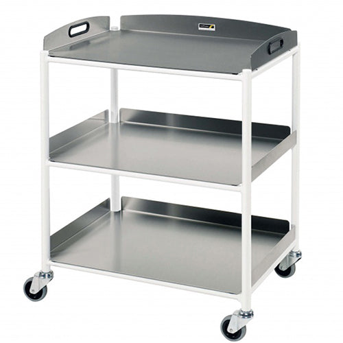 Medium Dressing Trolley, 3 Stainless Steel Trays