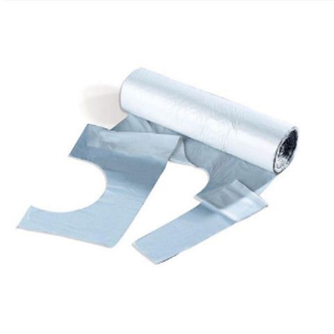 Disposable Polythene Aprons On A Roll - White