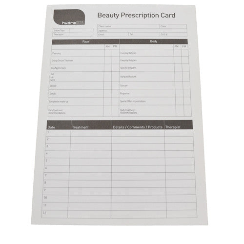 Beauty Prescription Pads