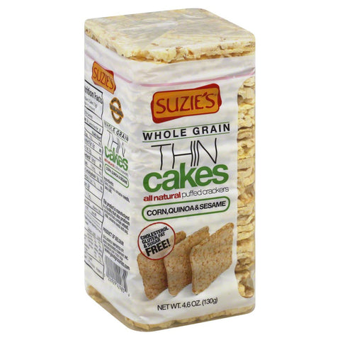 Suzie's Thin Cakes Corn Quinoa and Sesame Gluten Free -- 4.6 oz