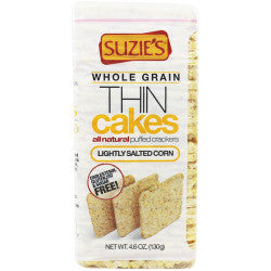 Suzie's Thin Cakes Corn Lightly Salted Gluten Free -- 4.6 oz