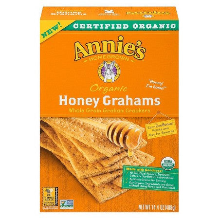 Annie's Homegrown Organic Honey Grahams -- 14.4 oz
