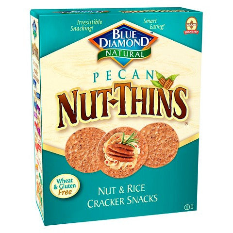 Blue Diamond Natural Pecan Nut-Thinså¨ Cracker Snacks -- 4.25 oz