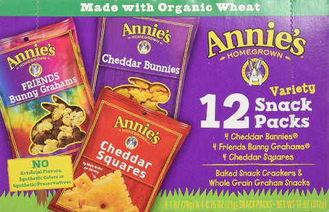 Annie's Homegrown Organic Snack Packs Variety Packs -- 12 Bags