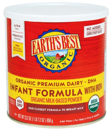 Earth's Best Organic Infant Formula with Iron -- 23.2 oz