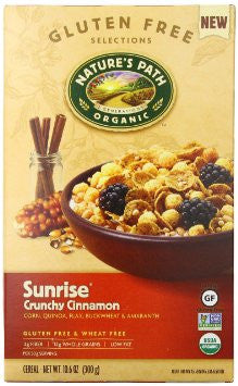 Nature's Path Organic Sunrise Cereal Gluten Free Crunchy Cinnamon -- 10.6 oz