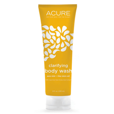 Acure Organics Clarifying Body Wash Pure Mint plus Lilac Stem Cell -- 8 fl oz