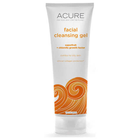 Acure Organics Facial Cleanser Superfruit plus Chlorella Growth Factor -- 4 oz