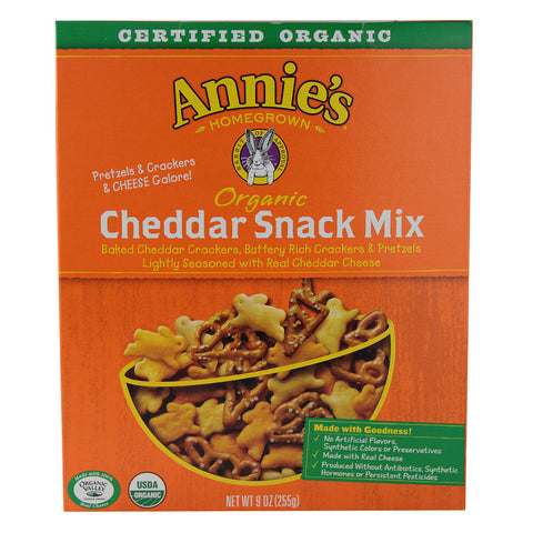 Annie's Homegrown Organic Cheddar Snack Mix -- 9 oz