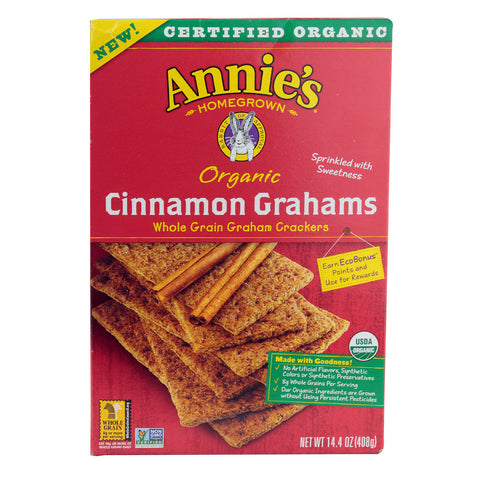 Annie's Homegrown Organic Cinnamon Grahams -- 14.4 oz