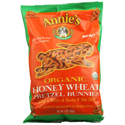 Annie's Homegrown Organic Pretzel Bunnies Honey Wheat -- 7 oz