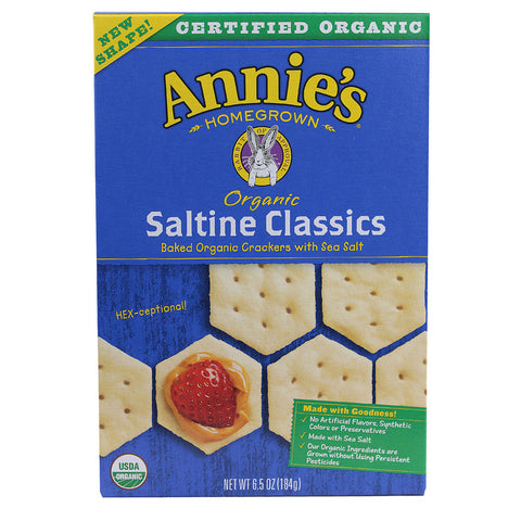 Annie's Homegrown Organic Saltine Classics Crackers -- 6.5 oz