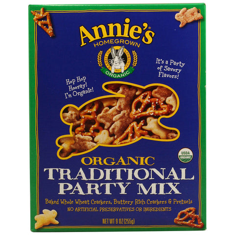 Annie's Homegrown Organic Traditional Party Mix -- 9 oz