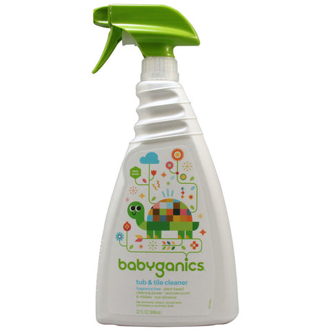 Babyganics Scrub a-Tub Tile Cleaner Fragrance Free -- 32 fl oz