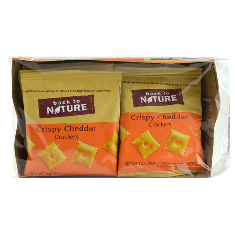 Back To Nature Crackers Crispy Cheddar -- 8 Pouches