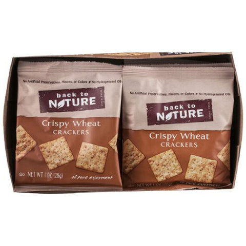 Back To Nature Crispy Wheat Crackers -- 8 Pouches