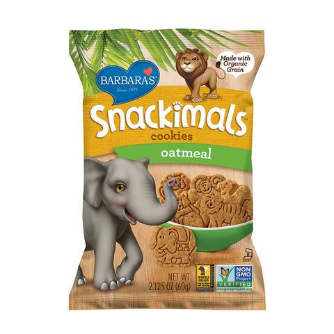 Barbara's Bakery Snackimals Animal Cookies Oatmeal -- 2.125 oz