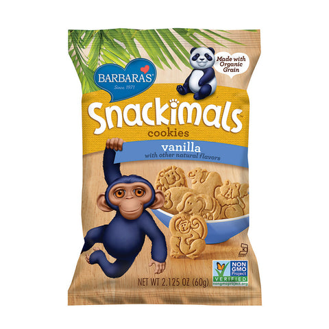 Barbara's Bakery Snackimals Animal Cookies Vanilla -- 2.125 oz