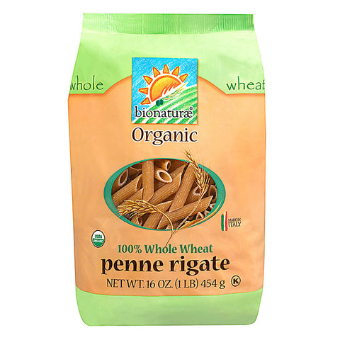 Bionaturae Organic 100% Whole Wheat Penne Rigate -- 16 oz