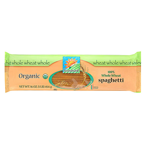 Bionaturae Organic 100% Whole Wheat Spaghetti -- 16 oz