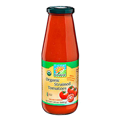 Bionaturae Organic Strained Tomatoes -- 24 fl oz