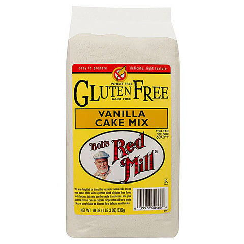 Bob's Red Mill Gluten Free Cake Mix Vanilla -- 19 oz