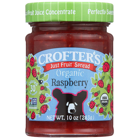 Crofters Organic Just Fruit Spread Raspberry -- 10 oz