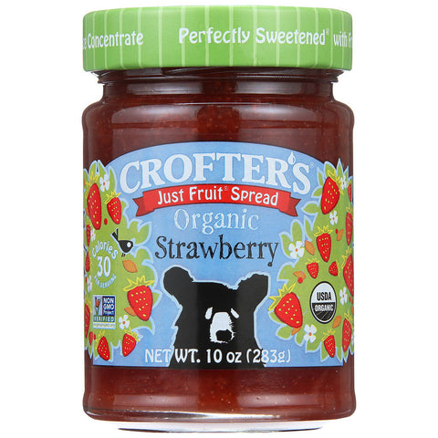 Crofters Organic Just Fruit Spread Strawberry -- 10 oz