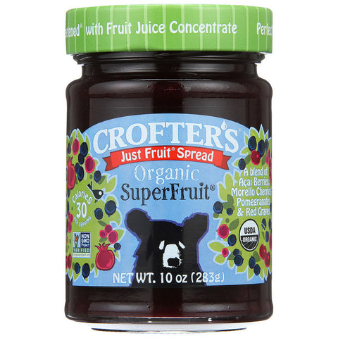Crofters Organic Just Fruit Spread Superfruit -- 10 oz