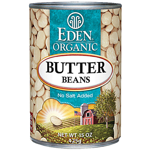 Eden Foods Organic Butter Beans Low Fat -- 15 oz