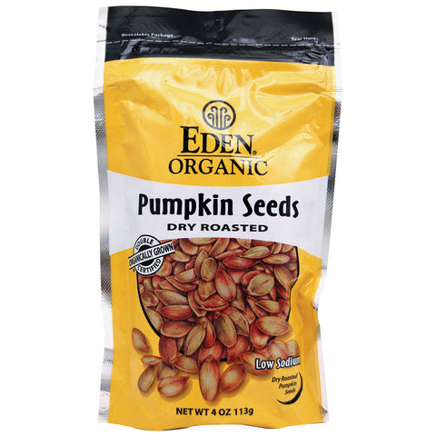 Eden Foods Organic Pumpkin Seeds Dry Roasted Unflavored -- 4 oz