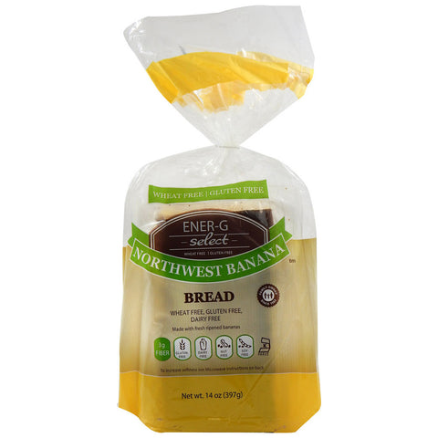 Ener-G Select Gluten Free Bread Northwest Banana -- 14 oz