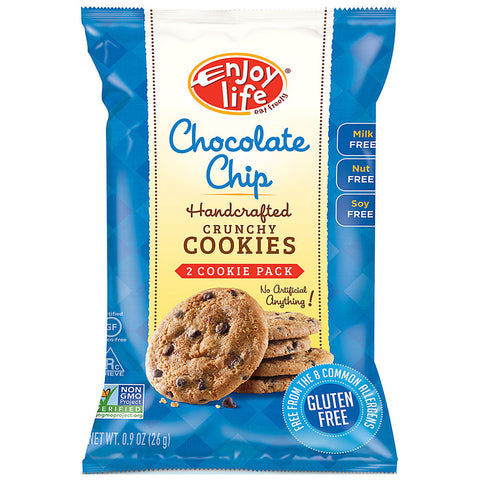 Enjoy Life Crunchy Cookie Snack Pack Chocolate Chip -- 2 Cookies