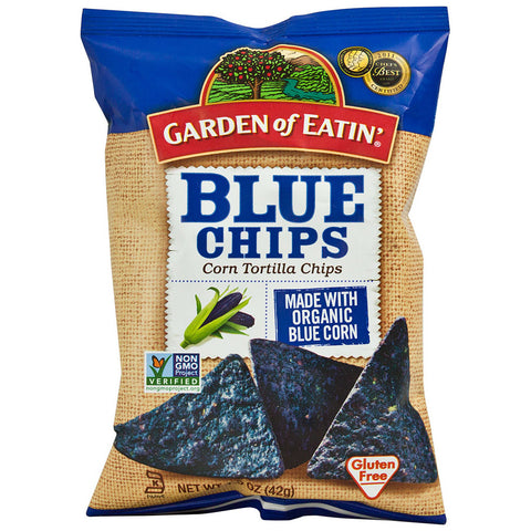Garden of Eatin' Organic Blue Tortilla Chips Gluten Free -- 1.5 oz
