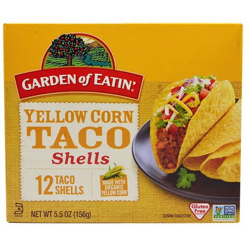Garden of Eatin' Yellow Corn Taco Shells -- 12 Taco Shells