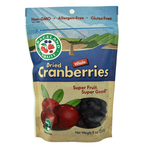 Graceland Fruit Dried Whole Cranberries -- 8 oz